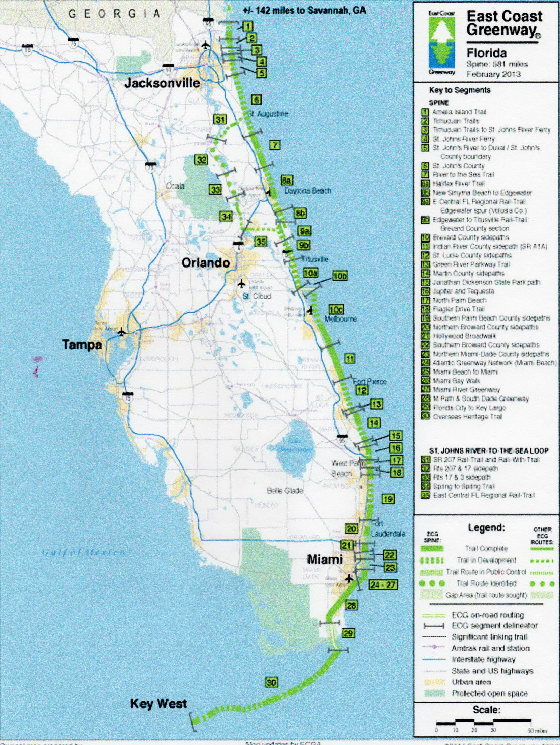 Insert 1. East Coast Greenway.Florida