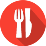 Dinner Icon (Red)