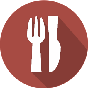 Dinner Icon (Red Gray)
